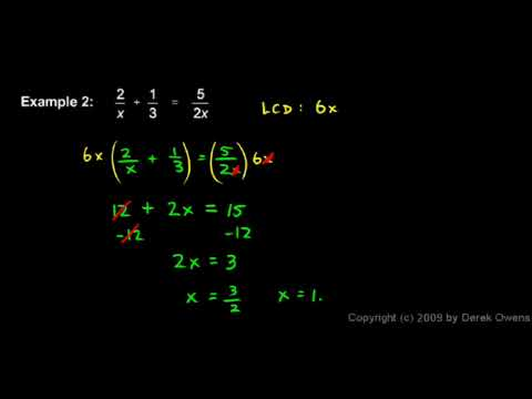 Algebra Review 9.2 - Fractional Equations