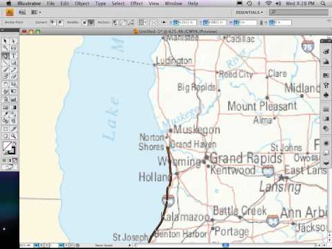 Part 3 of 9: Adobe Illustrator map tutorial DRAWING THE MAP