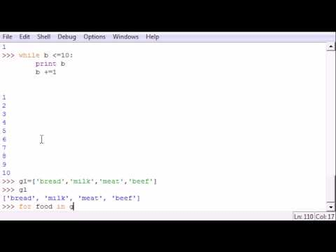 Python Programming Tutorial - 25 - For and While Loops