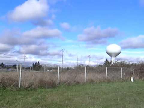 Standing on 45 North Latitude 123 West Longitude, Salem, Oregon, USA