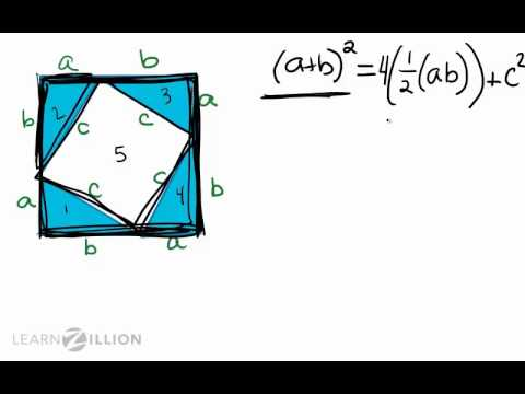 Prove the Pythagorean Theorem using the areas of squares and triangles - G-GPE.1