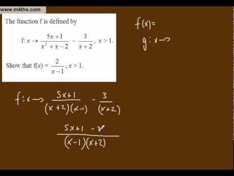 (m) Simplifying Algebraic Fractions Core 3 playlist (using function notation)