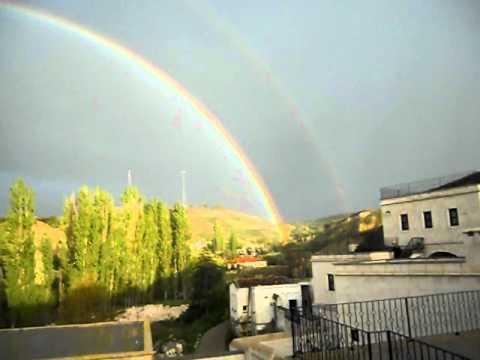 A Complete Double Rainbow!!! Over Cappadocia!!!