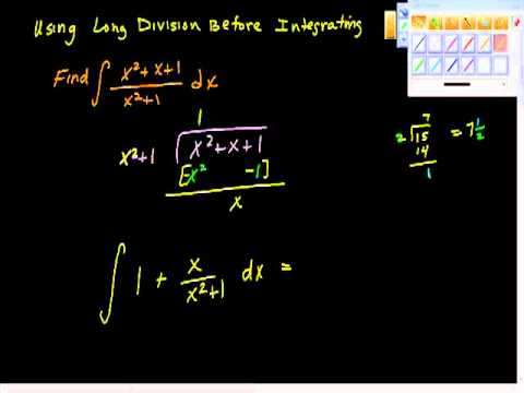 Using Long Division Before Integrating One