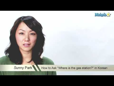 "How to Ask ""Where is the gas station?"" in Korean"