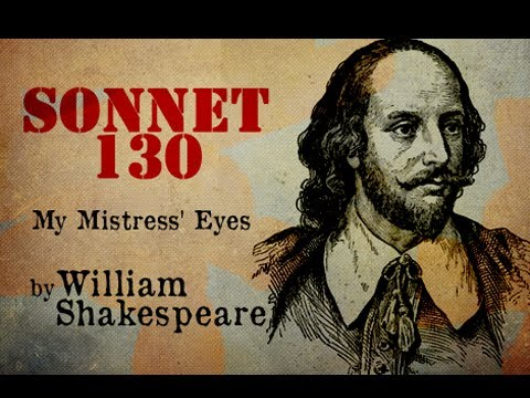 Pearls Of Wisdom - My mistress' eyes - Sonnet 130 - Poetry Reading
