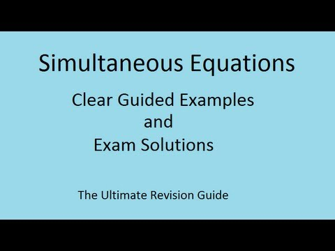 Quadratic Simultaneous equations - GCSE A* and AS Maths revision