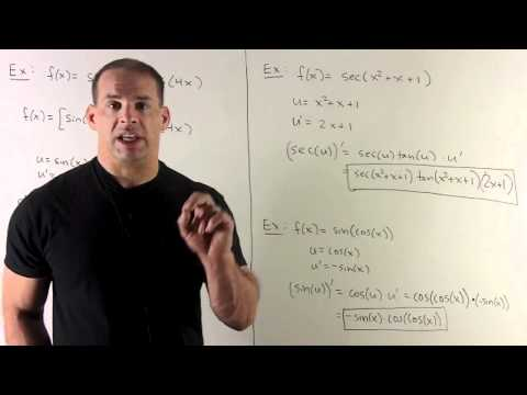 Example of Chain Rule 3 - Trig Functions