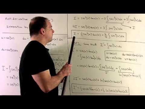 Antiderivative of sec^5(x)  (HD Version)