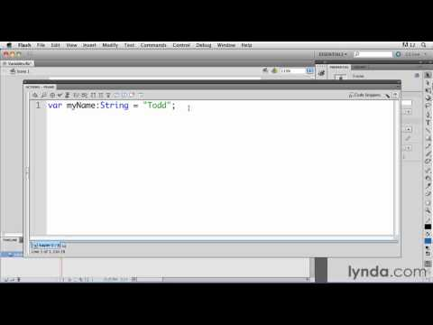 ActionScript tutorial: How to create a variable | lynda.com