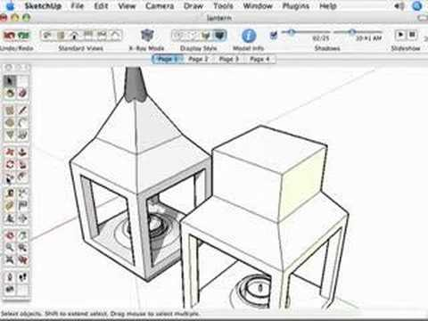 The Sketchup Show #1: Model a Lantern