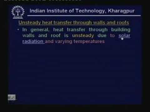 Lecture - 41 Cooling and Heating Load Calculations (Contd.)