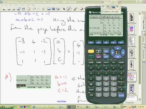 TI89 simult function to solve simultaneous equations