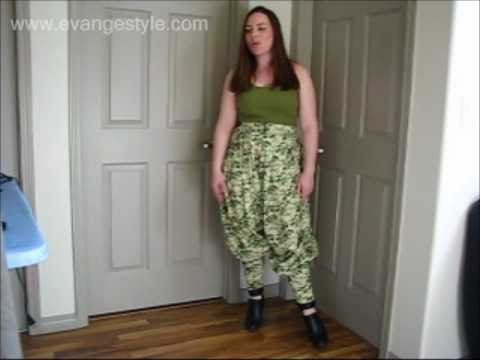Sewing Tutorial: How to make Harem Pants