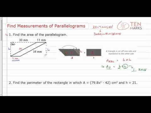 Find Measurements of Parallelograms