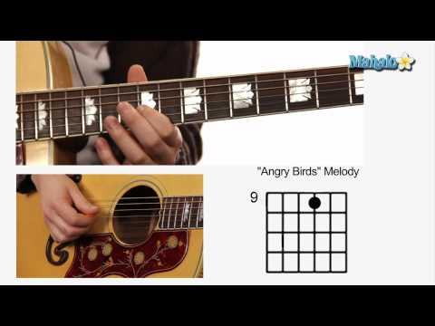 "How to Play ""Angry Birds"" A Section on Guitar Part 2"