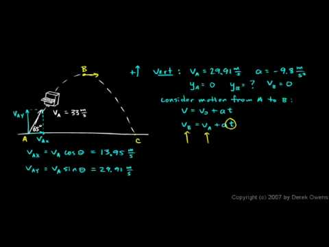 Physics 3.5.3b - Example - A Piano is Thrown into the Air