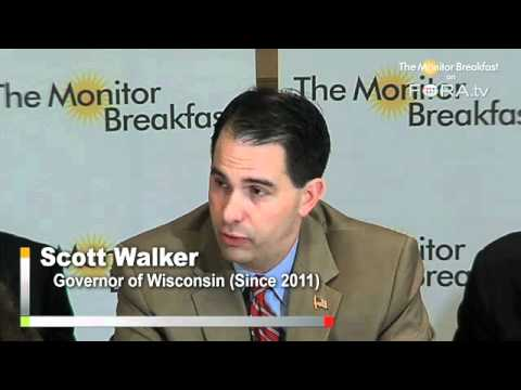 Wisconsin Governor Walker Addresses Critics