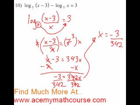 Logarithms - Log Equation #10