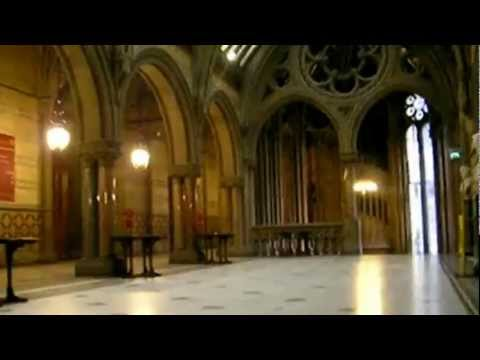 Inside the Manchester Town Hall, England