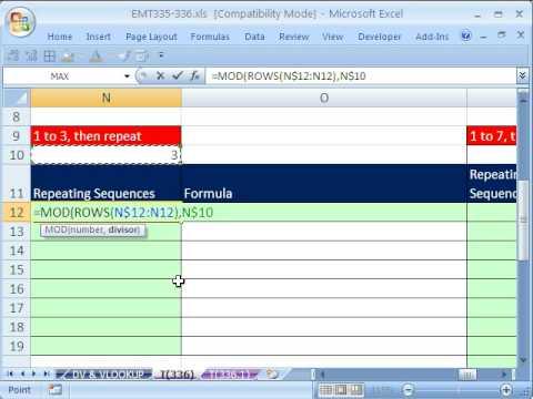Excel Magic Trick 336: Incrementing Numbers In Formulas