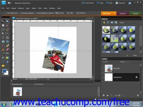 Photoshop Elements 9.0 Tutorial Displaying Drawing Guides Adobe Training Lesson 4.6