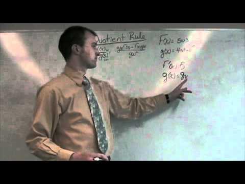 Calculus - Quotient Rule