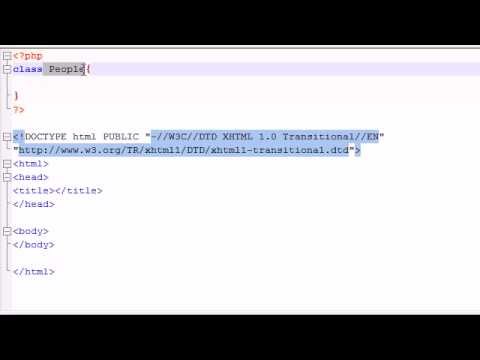 PHP Tutorial - 36 - Introduction to Object Oriented PHP