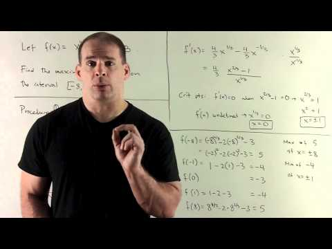 Example of Extreme Value Theorem 2