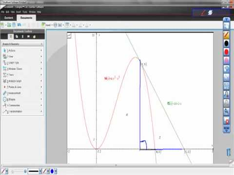 AP Calculus Finding the Area Between a Curve and Its Tangent Line at a Point ti-Nspire cas