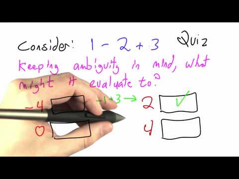Ambiguity Solution - CS262 Unit 3 - Udacity