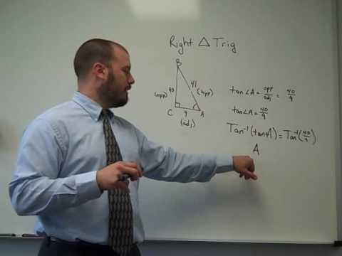 Using Right Triangle Trig to find Angle Measures
