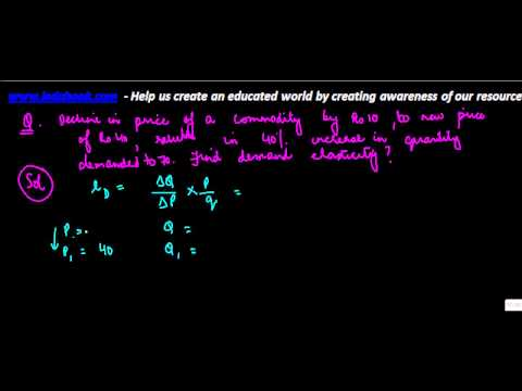 637.Class XII - Economics  - Price Elasticity - Problem 2
