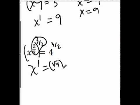 How to Solve Fraction Exponents