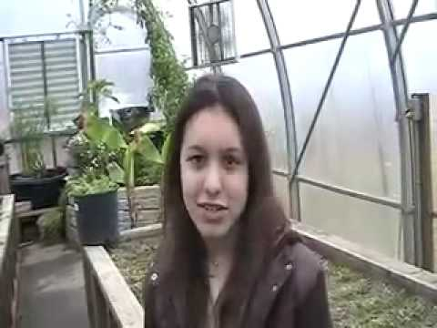 Student Tour of a School Garden in Maine