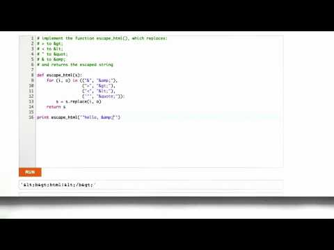Implementing Html Escaping Solution - CS253 Unit 2 - Udacity