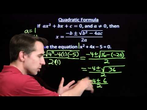 Art of Problem Solving: Using the Quadratic Formula Part 1