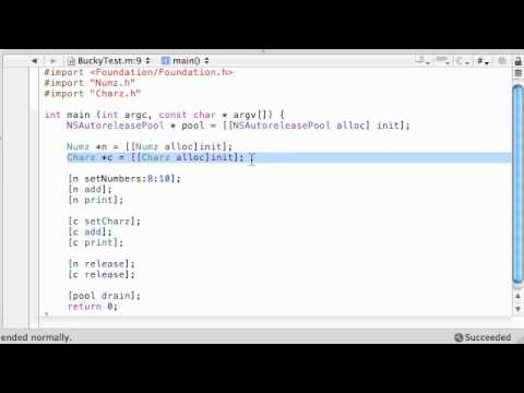 Objective C Programming Tutorial - 40 - Running a Polymorphic Program