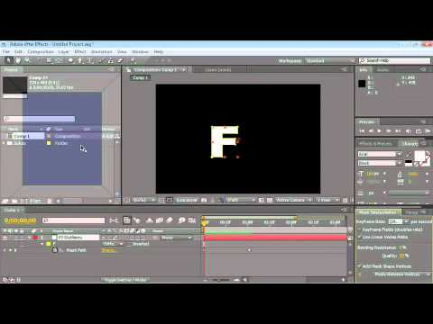 After Effects CS4 Essentials Smart Mask Interpolation