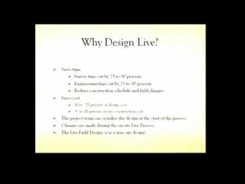 GeoDesign Summit 2010: William Dennis: Site Engineering Design—Live (Part 1 of 2)