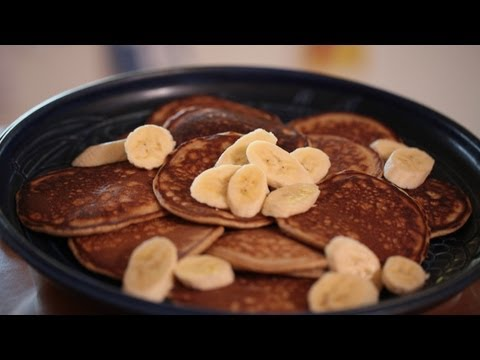 Banana Nut Pancakes Breakfast Recipe (How To Make) || Kin Eats