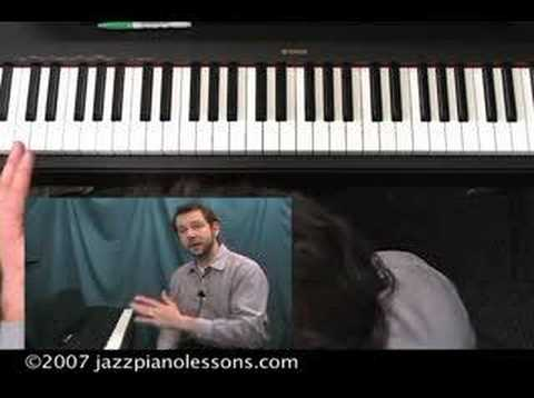 Jazz Piano Lesson E-lesson #12 [2-5-1 with Rootless Chords]