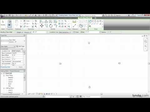 Revit Architecture: How to create walls | lynda.com tutorial