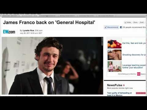 "James Franco on ""General Hospital"""