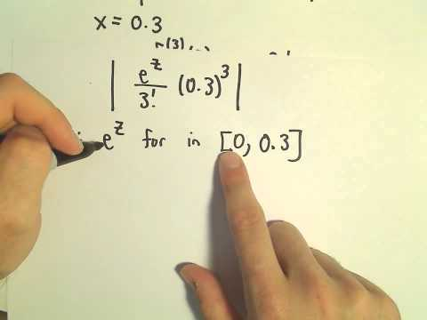 Taylor's Remainder Theorem - Finding the Remainder, Ex 3
