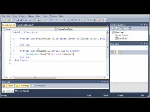 Visual Basic Tutorial - 47 - Coercion
