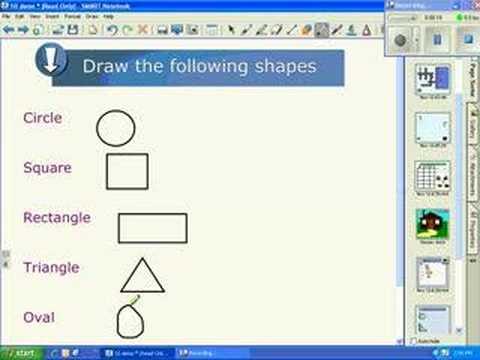 SMART's Notebook™ version 10 New Features - Shape Pen