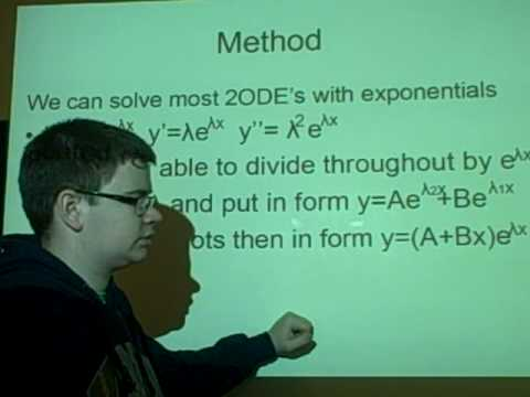 Differential Equations - solving 2ODE's with exponentials