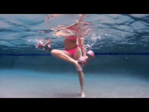 How to Do a Water Aerobics Touch Foot Front, Back Move | Water Aerobic Exercise