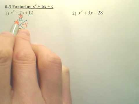 8.3 Basic Factoring - Algebra 1